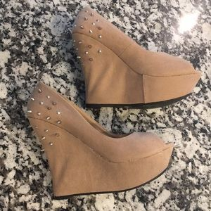 Shoes - Spiked Wedges, size 8.5